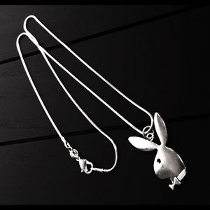 Jewelry - 925 Silver Plated Necklace with Playboy Bunny